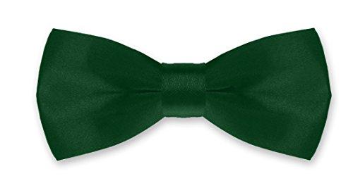 Autiga® Fliege Kinder Kinderfliege Hochzeit Konfirmation Schleife Schlips verstellbar Anzug Smoking dunkelgrün