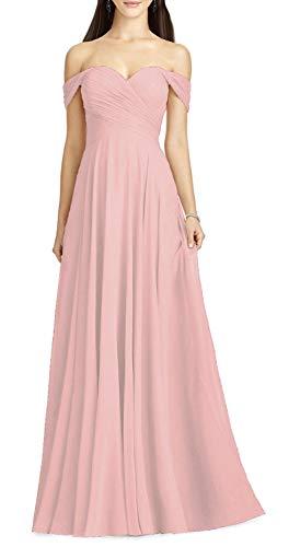 Aline Pink Off the Shoulder Wedding Dress