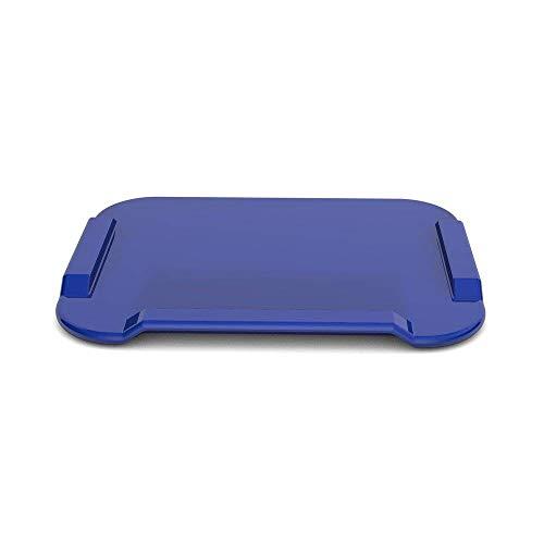 Ornamin Essbrettchen 22 x 17 cm blau (Modell 900) / Schneidebrett, Fixierbrett, Einhänderbrett