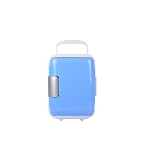 GNLIAN HUAHUA refrigerador Coche Universal Mini refrigerador Congelador portátil Caja de enfriamiento 4L Alimentos de Fruta de Fruta Compresor para for BMW E60 F10 Peugeot 206 (Color Name : Blue)