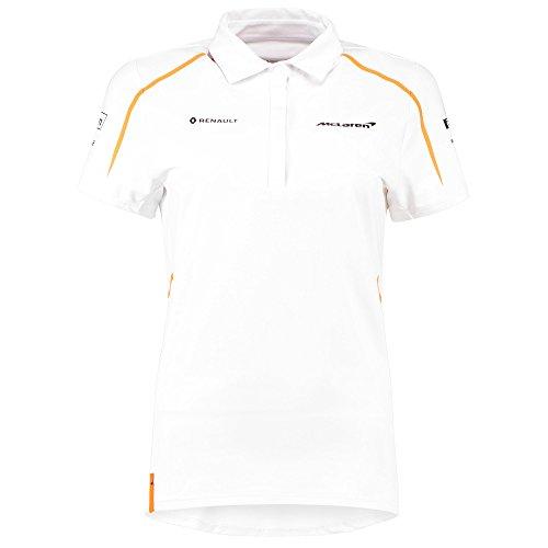 McLaren Renault Formula 1 Women's 2018 Team Polo Shirt (Large) White