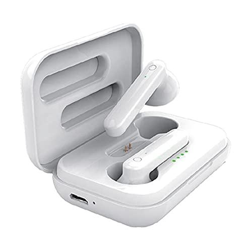 4-Ok Auriculares inalambricos BT 5.0. Micrófono, función Pop UP. Fácil emparejado, HI-Fi Estereo, Touch Sensor, Caja cargadora