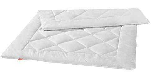 liebling Premium Kamelhaardecke aus 100prozent Kamelhaar, Wärmeklasse: leichte Sommerdecke, 155 x 220 cm, weiß