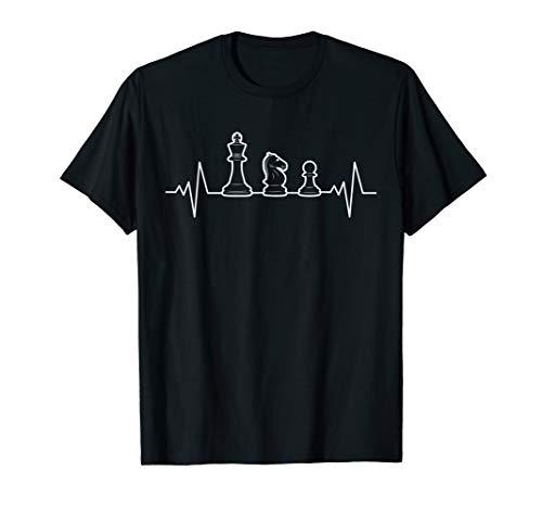 Lustiges Schach Shirt | Geschenk Schachspieler | Heartbeat