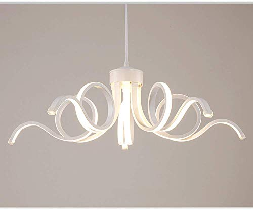 LED kroonluchter, 5 lampen witte LED plafondlamp, 5 armen kroonluchter met acryl lampenkap voor slaapkamer woonkamer restaurant