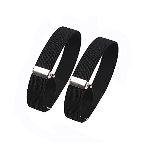 2 unids elástico ajustable brazalete antideslizante camisa liguero manga titulares para mujeres hombres