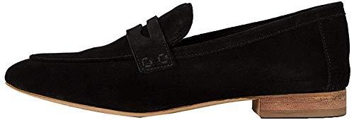 Amazon-Marke: FIND Soft Leather Slipper, Schwarz (Black), 41 EU