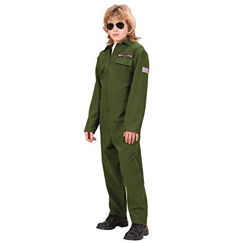 WIDMANN Widman - Disfraz de piloto de caza de la segunda guerra mundial para nio, talla 5 - 7 aos (73136)