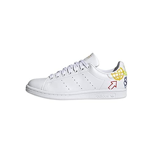 adidas Originals Women's Stan Smith Sneaker, White/Halo Ivory/White, 11 M US