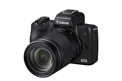 Canon EOS M50 Systemkamera spiegellos - mit Objektiv EF-M 18-150mm IS STM (24,1 MP, dreh- u. schwenkbares 7,5cm (3 Zoll) Touchscreen-LCD Display, Digic 8, 4K Video, OLED EVF, WLAN, Bluetooth), schwarz