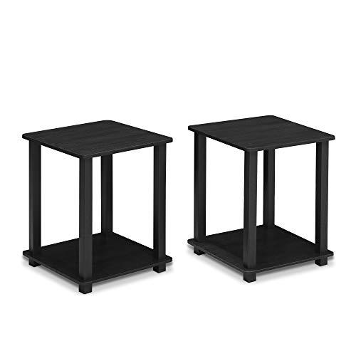 Furinno Simplistic End Table, Americano/Black