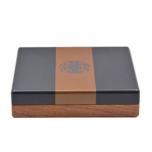 BXU-BG Caoba de Plata metálico Mini pequeño Viaje de Cigarrillos humidor