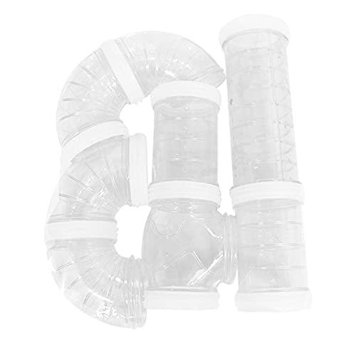 Anwangda Juego de tubos de hámster, juego de ejercicio con tubo externo, jaula de hámster y accesorios para hámster juguetes para ampliar el espacio DIY Creative Connection Tunnel (blanco)