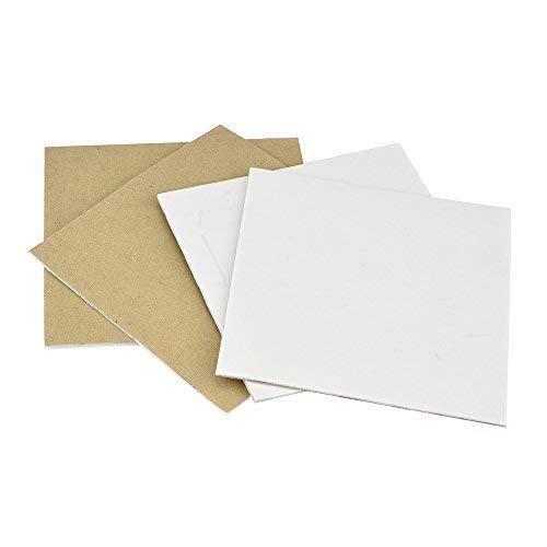 Dapei 4 Stück Antirutschmatten Tri Aufkleber Teppich Antirutschmatte Teppichunterlage Teppich Rutsch Stopp für Holz Boden Fliesen Boden (Weiß)