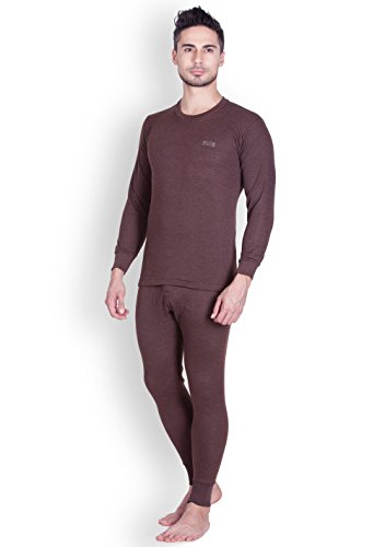 Lux Cottswool Men's Cotton Thermal Set (COTT_Brown_FS_RN_TRO_Set_95)