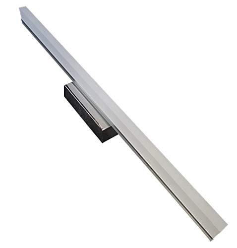 Aplique Led Cromado para Baños 60cm 16w. Color Blanco Frio (6500K). 1600 Lumenes. Aplique para Espejo.