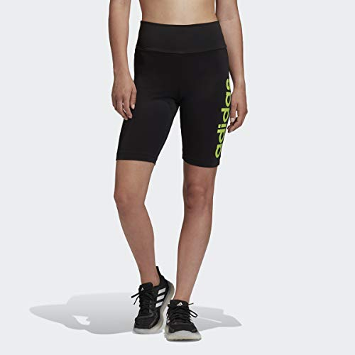 adidas Design 2 Move Short Ceñidos, Negro/Verde señal, Small para Mujer