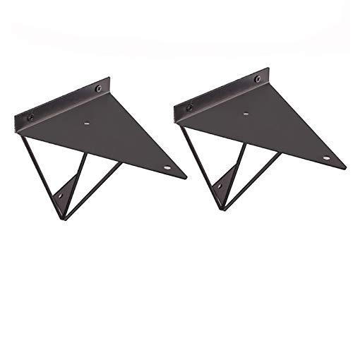 Liyijiestore Regalträger Paar Prisma Schwerlast Wandträger,platzsparend 3 Farben(100Mm×100Mm) (Color : Black, Size : 230×170mm)