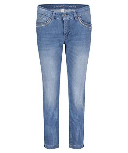 Mac Damen Jeans Dream Summer Slim Fit verkürzt Stoned Blue (81) 44/26