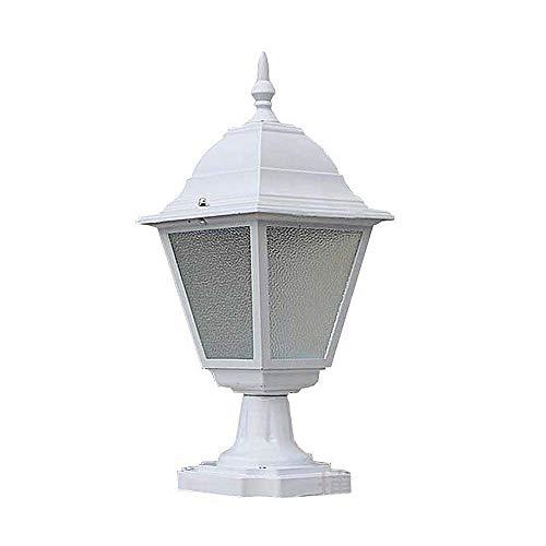 ZYLE Luz al Aire Libre de la lámpara de Piedra Barandilla Columna Columna Lámpara Villa Cabeza de la lámpara Blanca de la Pared de la lámpara