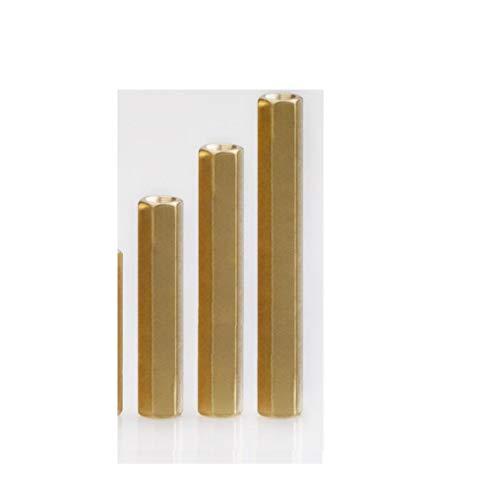 Dubbele doorgangsstangen koper holle kamerpalen dubbele koppalen koper zeskantpalen isolatiepalen koperen palen M2 * 26/10 Gélules/