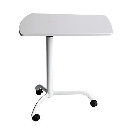 Pulte & Podien Höhenverstellbarer Katheder Podium mit Rollen Sofa Corner Couchtisch Für Konferenzraum (Color : White B, Size