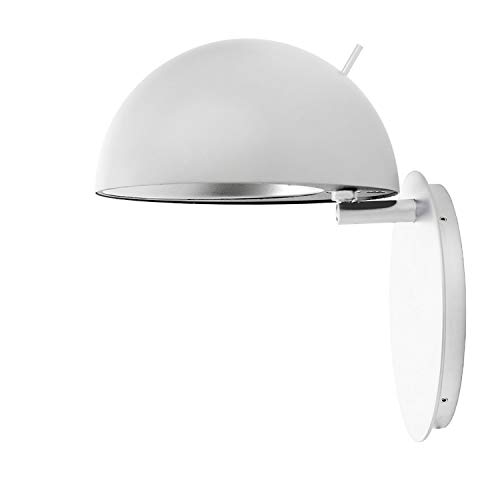 Aplique de pared modelo Radon, minimalismo escandinavo para iluminación puntual, flexible y ajustable, cable de 3,3 metros y enchufe, 21 x 21 x 19 centímetros, color blanco (referencia: 83181705)