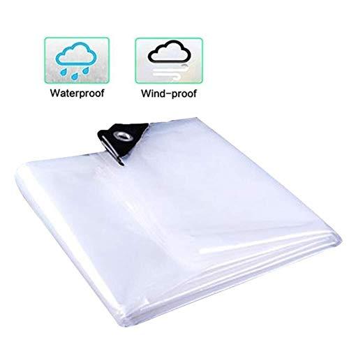 Cubierta impermeable transparente - Polietileno de lona impermeable for trabajo pesado Patio transparente a prueba de lluvia de tela engrosamiento de la cubierta de aluminio del coche de la hebilla -L