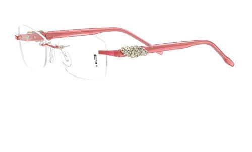 Switch it! Exclusive Garnitur mit Steinen - Acetat Wechselbügel in verschiedenen Farben (9080: rot - Dekor gold mit Steinen)
