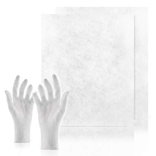 C-lean House 2 Stück Dunstabzugs Filter Comfort - Packung incl. Wechselhandschuhe Persönlicher Zuschnitt, 47 x 57 cm