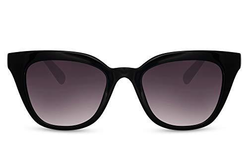Cheapass Sunglasses Gafas de sol Clásico Retro Negro Mujer Cateye Sunnies para mujeres con lentes degradados UV400 protegido