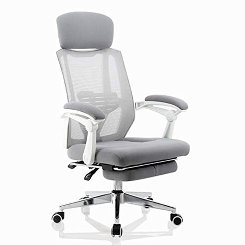 Home Office Chair, YQAD with Ergonomic Design Neck Pillow and Wear-Resistant Nylon Armrest Swivel Task Chair Carrying Back Support Durable-1
