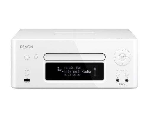 Denon RCD-N8 Netzwerk Kompaktreceiver (2x 65 Watt, CD, Internetradio, DLNA, AirPlay, iPod-Dock, UKW, App Steuerung) weiß