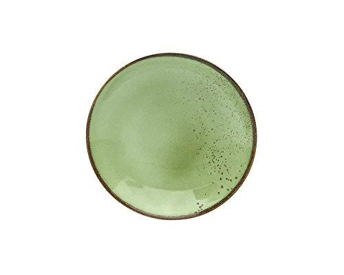 Creatable ER Suppenteller, Green 22051 Nature Collection Lot de 6 Assiettes Creuses Grès 22 cm, Vert