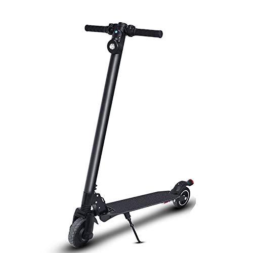 MSG ZY Scooter eléctrico/Bicicleta eléctrica, Cuerpo de Aluminio de aviación Plegable, Instrumento LCD, absorción de Doble Choque, 300W -28km / h - 25-30km, Plegable - E-Scooter para Adultos