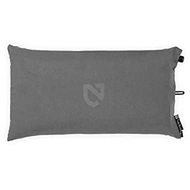 Nemo Fillo Inflatable Travel Pillow with Fabric Cover, Nimbus Grey