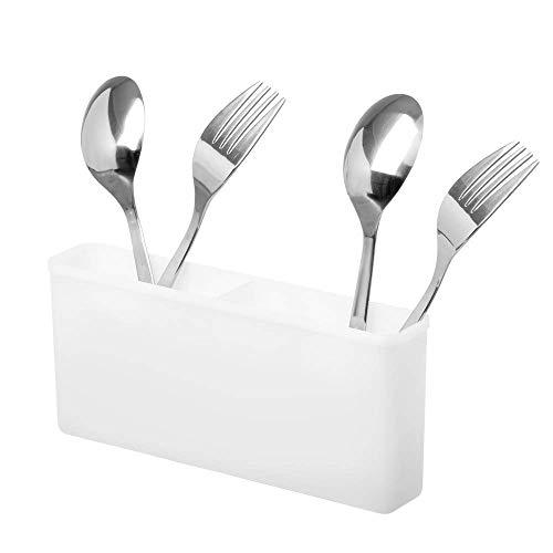 SANNO Utensil Drying Rack, Utensil Silverware Storage Holder fit for Dish Rack Over Sink, Chopsticks/Spoon/Fork/Knife Drainer Basket Flatware Storage Drainer