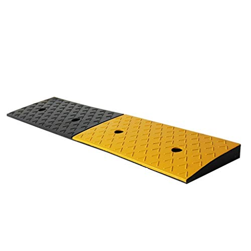 Road Tooth Vertraging Pad, Maximale overspanning Rubber Curb Ramps Parkeerplaats Garage Stap Uphill Pad Lengte: 4cm / 6cm (Size : 98 * 22 * 4CM)