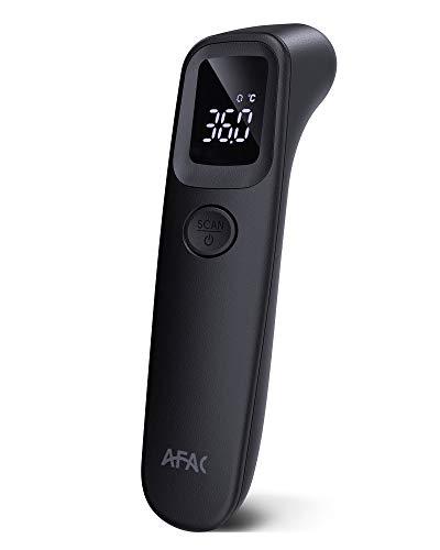 Termometro Digital, AFAC Termometro Infrarrojos Frente para Bebe, Adultos y Ninos con Pantalla LED Grande, Recordar de 32 Recuerdos y Alarma de Fiebre, Lectura Instantanea Precisa
