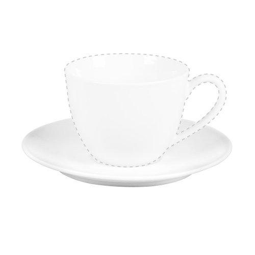 Ritzenhoff & Breker Bianco Espresso Untere, Untertasse, Unter Tasse, Geschirr, Porzellan, Weiß, Ø 11 cm, 78763