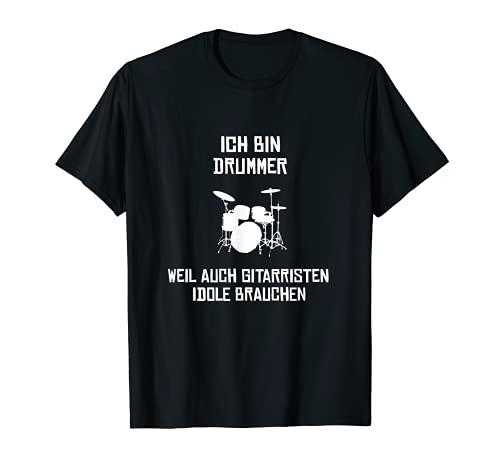 Herren Drummer Schlagzeuger Idol T-Shirt Schlagzeug Musik Geschenk