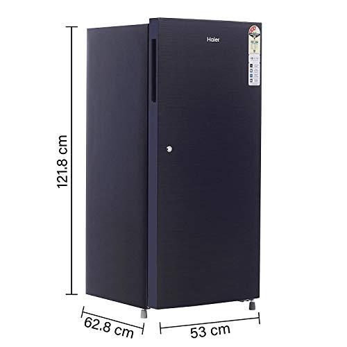 Haier 195 L 3 Star Direct-Cool Single Door Refrigerator (HRD-1953CKS-E, Black Brushline) 3