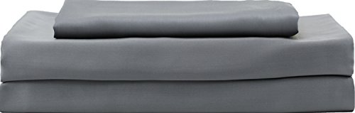 HotelSheetsDirect Bed Sheets Set - 1600 Thread Count, 4 Pieces (1 Flat, 1 Fitted Sheet, 2 Pillow Cases) - 100% Bamboo Sheet Sets, Queen - Dark Gray