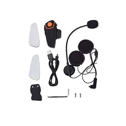ZHANGFANGPING Bluetooth Motocicleta Casco Auriculares Comunicación Intercomunicadora Auricular Universal Inalámbrico Interphone a 2 o 3 Jinetes (Color : QTA35)