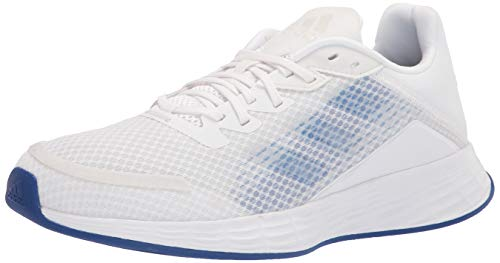 adidas Women's Duramo SL Running Shoe, White/Screaming Pink/Dash Grey, 8.5