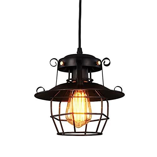 YWJPJ. Luz Retro Colgante, Paraguas de Hierro Shade Industrial Estilo E27 lámpara, para almacén Restaurante Bar Contador Ático Booksore Dormitorio Dormitorio Decoración del hogar