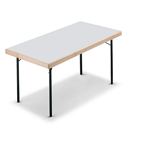 Tables pliantes - 4 pieds - 1500 x 800 mm, piétement anthracite, plateau gris clair - Table Table pliante Tables Tables pliantes Table polyvalente Tables polyvalentes