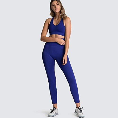 RRUI Dames Panty Leggings Vrouwen Nieuwe Naadloze Gebreide Billen Sport Fitness Yoga BH Panty Dames Set Donker Groen L