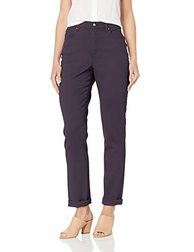 Gloria Vanderbilt Women's Classic Amanda High Rise Tapered Jean, Mauve Berry, 8
