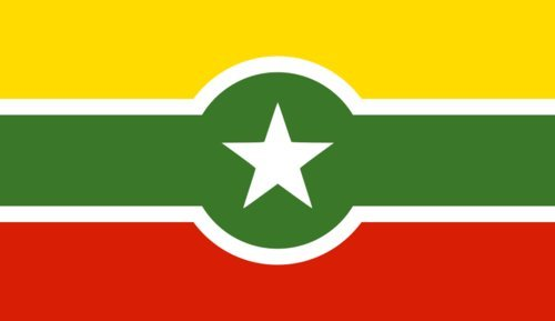 magFlags Flagge: Large Alternate Myanmar   Querformat Fahne   1.35m²   90x150cm » Fahne 100% Made in Germany